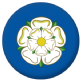 Yorkshire County Flag 25mm Keyring